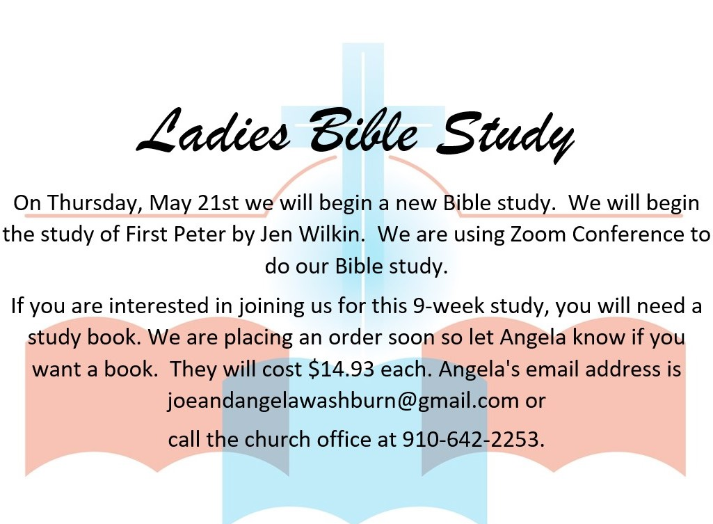 ladies bible study, may 2020
