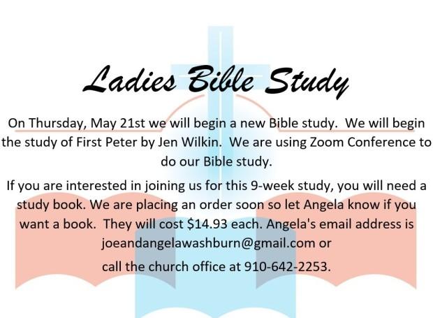 ladies bible study, may 2020